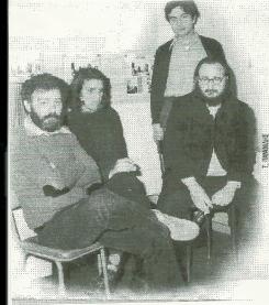 """Μανώλης Ρασούλης & Νίκος Ξυδάκης & Διονύσης Σαββόπουλος το 1977 στην ηχογράφηση του δίσκου """"Η εκδίκηση της Γυφτιάς"""""""