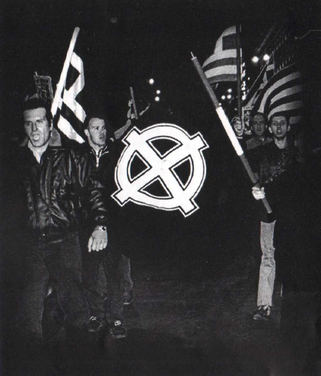 1998-01-30 - Ιμια Πορεία με κελτικές σημαίες Χρυσοί Αετοί - ΑΝΤΕΠΙΘΕΣΗ, Α.Τ. 02, 03-1999, σελ. 09