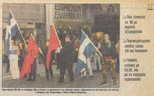 Χαυτεία, 'Εθνικιστική Πρωτομαγιά' 1995. 'Χρυσοί Αετοί'