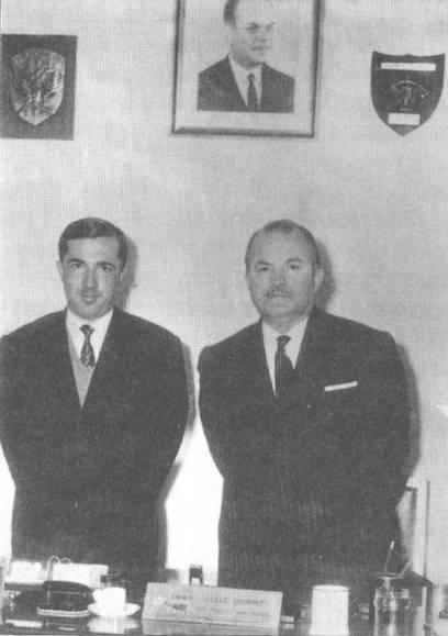 1968, Κωνσταντίνος Πλεύρης και  Ιωάννης Λαδάς στο Υπουργείο Δημοσίας Τάξεως