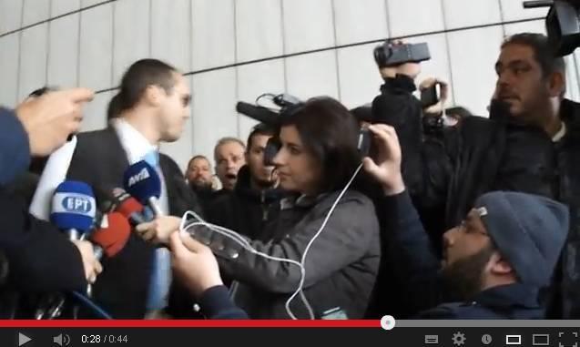 Αθήνα, 07 Μαρτίου 2013, Δικαστήρια Ευελπίδων, μετά την δίκη του Ηλία Κασιδιάρη