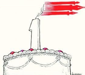 Σκίτσο του Μιχάλη Κουντούρη για την επέτειο