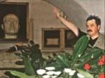 Χρήστος Παππάς μπροστά στην προτομή Μουσολίνι σε ναζιστικό χαιρετισμό(Παλαιότερα)