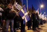 Γιώργος Ρουπακιάς με σημαία σε Τάγμα Εφόδου ΧΑ.