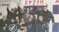 Γιώργος Ρουπακιάς, Πατέλης, Μιχάλαρος και άλλοι από τον Πυρήνα Νίκαιας χαιρετούν ναζιστικά.