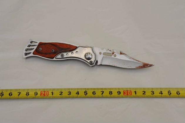 Το μαχαίρι που περισυνέλεξε ο αστυνομικός μάρτυρας και με το οποίο δολοφονήθηκε ο Παύλος Φύσσας [Από 2015-11-04-ΕΦΗΜ-ΣΥΝΤΑΚΤΩΝ - Μαρία Δήμα - Ντοκουμέντο ΕφΣυν Το μαχαίρι της δολοφονίας].