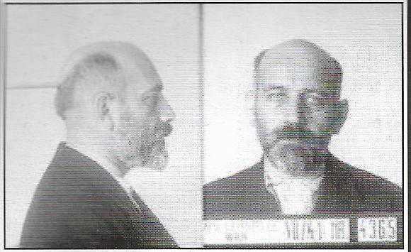 Zvi Koretz (Τσβι Κόρετς): Φωτογραφία σύλληψης στη Βιέννη, Ανφάς και προφίλ.