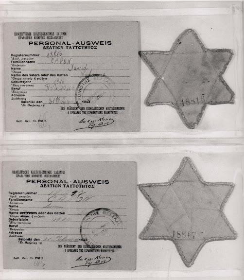 Κίτρινα αστέρια και Ταυτότητες ('Personal Ausweis').