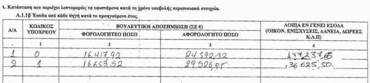 Νίκος Μιχαλολιάκος και Ελένη Ζαρούλια, Πόθεν έσχες 2013, για τα έσοδα του 2012. Τα κέρδη της εφημερίδας ήταν τελικά οι ζημιές της εφημερίδας, που μέχρι τώρα ήταν το 'επάγγελμα' του συζύγου. Και αυτές οι ζημιές καλύπτονται 'από δωρεές'.