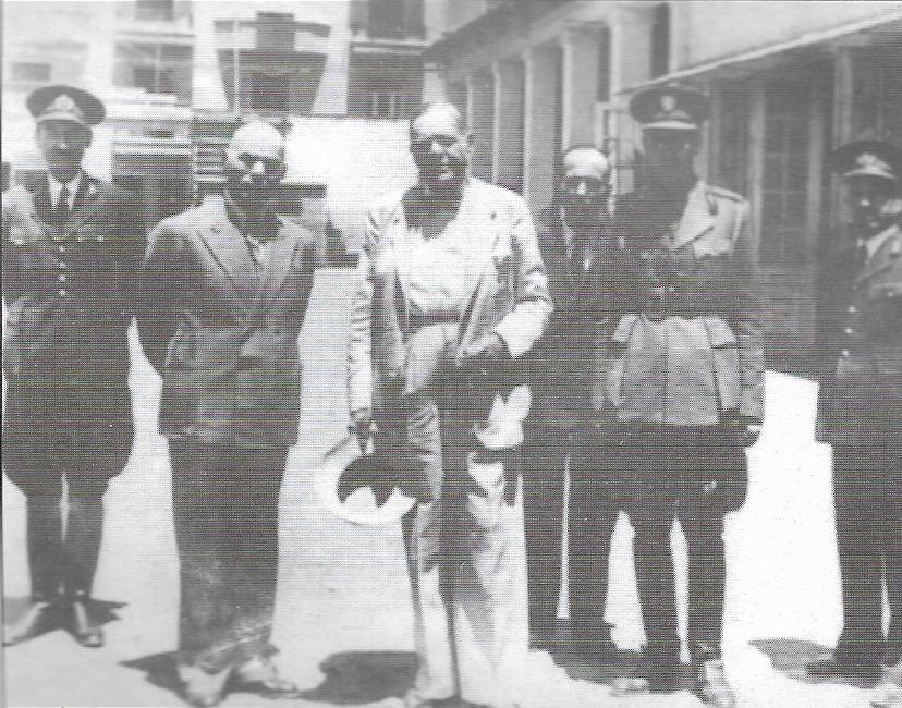 Ιωάννης Ράλλης, Απόστολος Παπαγεωργίου (Φιλώτας) Αρχηγός Πυροσβεστικής και αρχηγός προδοτικού ΕΔΕΣ, έμας Αξιωματικός από τα Ταγμάτα Ασφαλείας και ένας Αξιωματικός της Αστυνομίας το 1944.