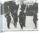 Πλατεία Συντάγματος, Ιωάννης Ράλλης, Σχης Πλυτζανόπουλος, Η σημαία των Ταγμάτων Ασφαλείας, 1944