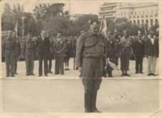 Οκτώβριος 1944, Αθήνα, Απελευθέρωση, Σαράφης, Κανελλόπουλος, Μάντακας και άλλοι σε κατάθεση στεφάνου