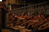 09 Aug 1992, Manjaca, Bosnia and Herzegovina --- Prisoners of War in Serbian Military Camp --- Image by © Patrick Robert/Sygma/Corbis