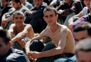 17 Aug 1992, Bosnia and Herzegovina --- Manjaca Detention Camp for Bosnian and Serb Prisoners --- Image by © Pascal Le Segretain/CORBIS SYGMA