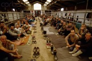 11 Aug 1992, Manjaca, Bosnia and Herzegovina --- Prisoners in Camp During Yugoslavian War --- Image by © Patrick Robert/Sygma/Corbis