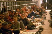 17 Aug 1992, Bosnia and Herzegovina --- Manjaca Detention Camp for Bosnian and Croatian Prisoners --- Image by Pascal Le Segretain/Sygma/Corbis