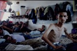 18 Aug 1992, TRNOPOLJE, Bosnia and Herzegovina --- TRNOPOLJE REFUGEE CAMP --- Image by Pascal Le Segretain/Sygma/Corbis