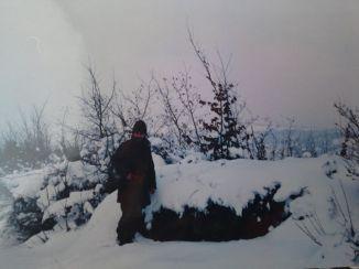Βοϊκοβίτσι, Βοσνία, Ιανουάριος 1995. Διακρίνεται ο Κυριάκος Καθάριος στη σκοπιά.
