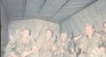 Βοσνία, 1995. Διακρίνονται με τα όπλα τους σε καρότσα φορτηγού οι Δημητρίου Χρήστος και άλλοι.