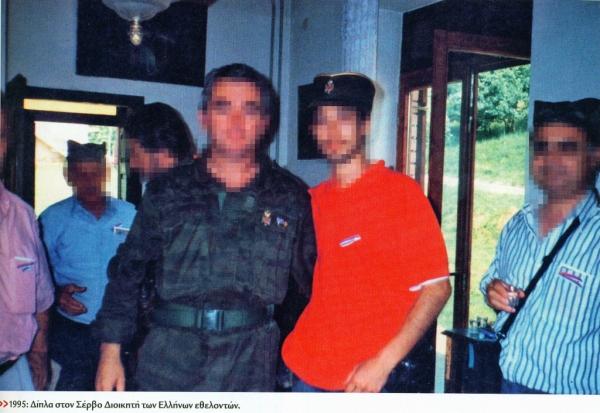 Ο Αγησίλαος Σαράφης, ψευδώνυμο 'Αρης', είχε υπηρετήσει φυσικά και στην ΕΕΦ. Εδώ με τον διοικητή τους Ζβόνκο Μπάγιαγκιτς.