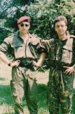 Με την στολή παραλλαγής. Ελευθέριος Σπουργίτης, διωγμένο μέλος της ΕΕΦ.