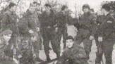 Βλασένιτσα, Βοσνία, 1995. Διακρίνονται οι Ζβόνκο Μπάγιαγκιτς, Νικολαΐδης Νίκος, Σπουργίτης Ελευθέριος και άλλοι.