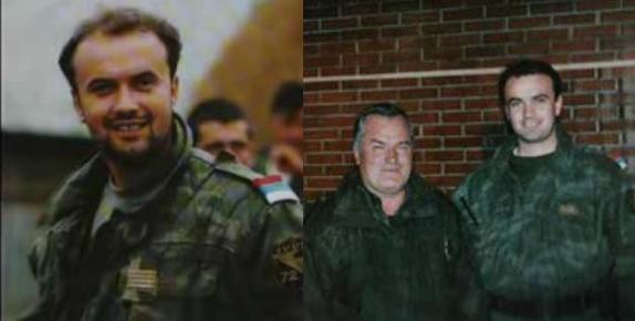 Ο διοικητής των 'Λύκων του Δρίνου' Milan Jolovic (με το ψευδώνυμο Legenda) με τον Μλάντιτς το 1995.  Ενα παράξενο πράγμα, οι εθελοντές μεταξύ τους προσφωνούνται 'Legenda'.