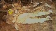 Πτώμα μουσουλμάνου σε ύπτια στάση με τα χέρια δεμένα πίσω από την πλάτη