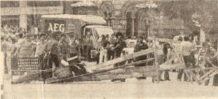 1976-05-25 - Μεγάλη απεργία για Νόμο Λάσκαρη Νόμος 330 Θάνατος Αναστασία Τσιβίκα-07 Οδόφραγμα - odofragma