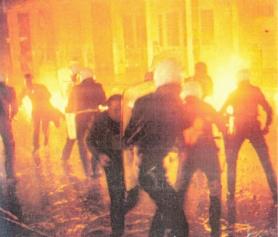 1985-11-17+18 - Χημείο Δεύτερη κατάληψη για φόνο Καλτεζά + Επέμβαση ΜΑΤ-35 - molotov
