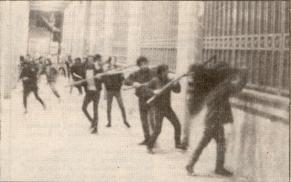 1985-11-17+18 - Χημείο Δεύτερη κατάληψη για φόνο Καλτεζά + Επέμβαση ΜΑΤ-56 - bank of greece