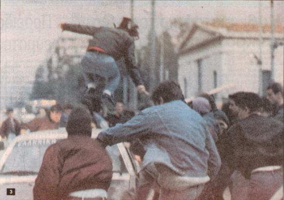 Ο πρώτος ιπτάμενος αναρχικός, 18/12/1990, σε οδομαχίες με τα ΜΑΤ.