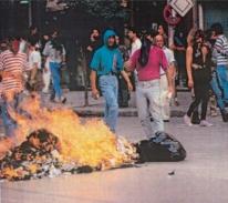 1991-10-18 - Βουλή Πυρπολήσεις-20 - odofragma