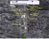 Image 2 Date: July 13, 1995 Subj: Overview: Potocari, Bosnia and Herzegovina Author: U.S. National Geospatial Intelligence Agency Source: International Criminal Tribunal for Yugoslavia (ICTY) This image shows various landmarks in the town of Potocari, located in the Srebrenica 'safe area' enclave on July 13, 1995, including a line of buses and trucks on the road outside of the UN base.
