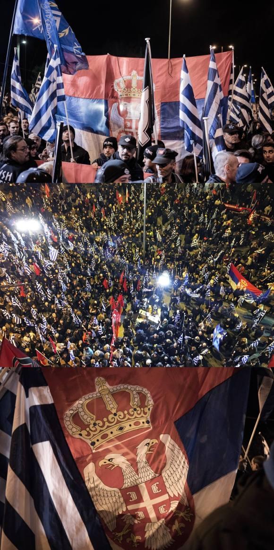 Φωτογραφίες από το Vice. Στις εκδηλώσεις της ναζιστικής συμμορίας για τα Ιμια (που είναι στην πραγματικότητα γιορτές για την επέτειο ανάληψης της Καγκελαρίας από τον Χίτλερ το 1933), την τιμητική τους έχουν πάντα οι Γερμανοί νεοναζί του NPD, όμως πολύ συχνά φιλοξενούνται και νεοναζί από άλλες χώρες, και μεταξύ τους, και από τη Σερβία, λ.χ. το 2010 όταν ο Παναγιώταρος καλωσόριζε «εκατοντάδες Ευρωπαίους συναγωνιστές από χώρες όπως η Σερβία» κ.ο.κ. Γιορτή 'τρία σε ένα', ανάληψη εξουσίας από τον Χίτλερ, Σρεμπρένιτσα, Ιμια.