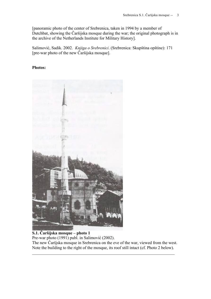 Andras Riedlmayer - Report S1 on Carsijska Mosque in Srebrenica [October 2012] - Mladic-Srebrenica-S1 Carsijska-03