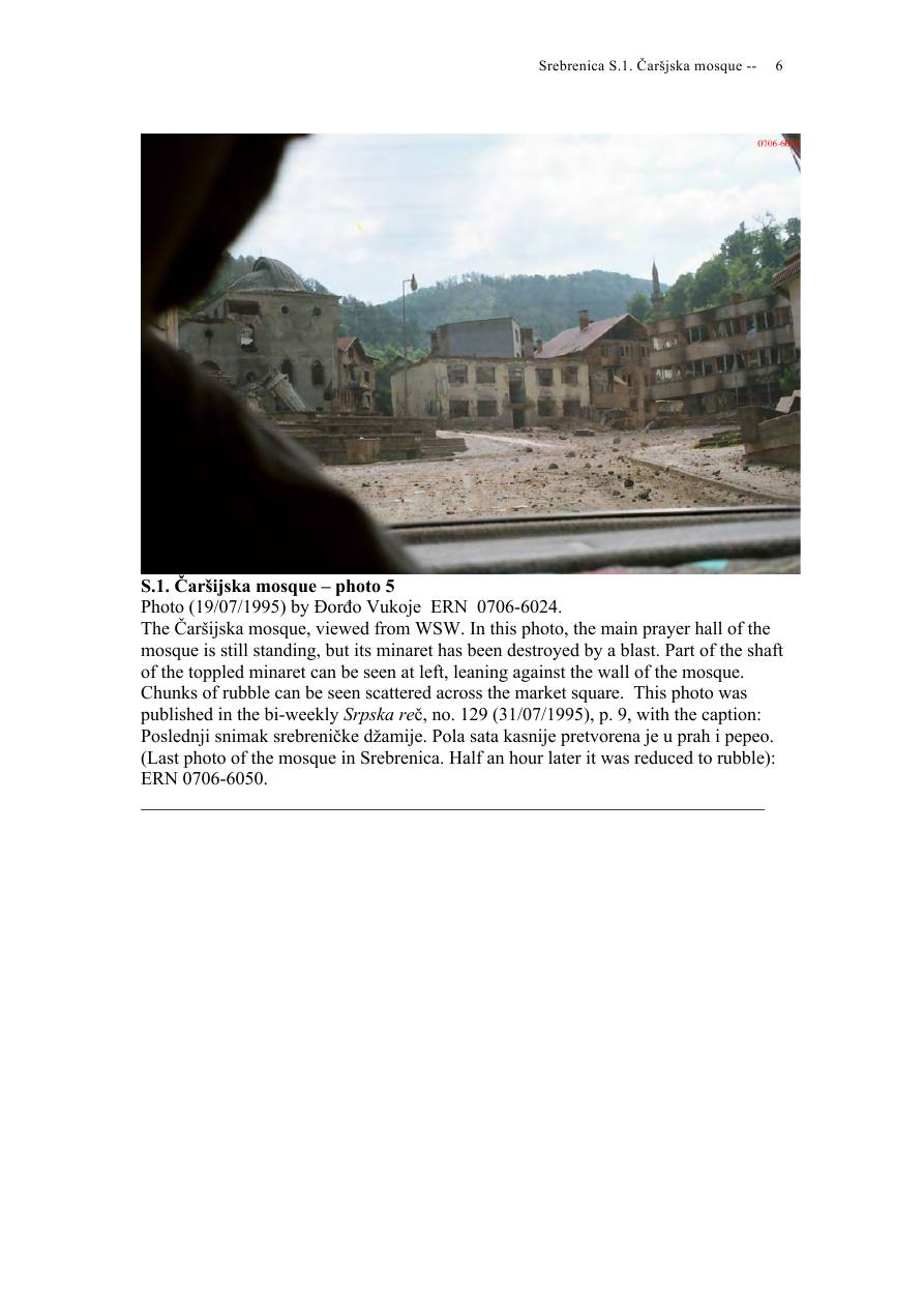 Andras Riedlmayer - Report S1 on Carsijska Mosque in Srebrenica [October 2012] - Mladic-Srebrenica-S1 Carsijska-06