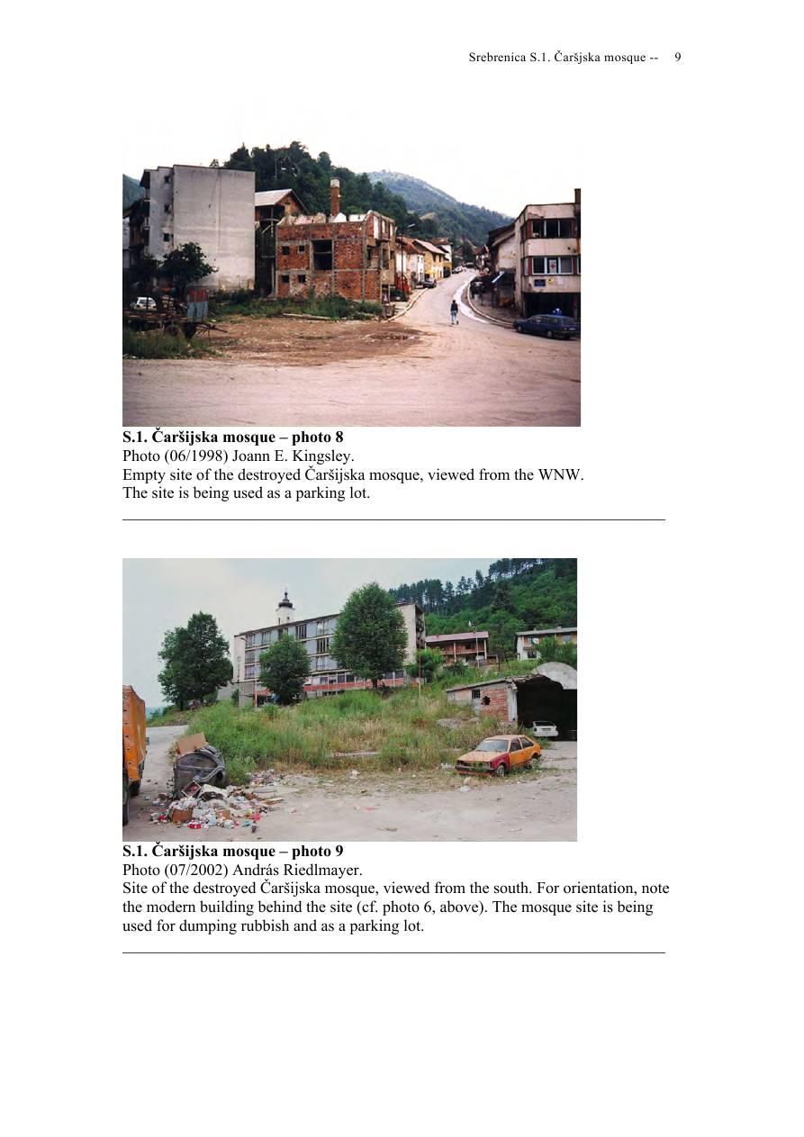 Andras Riedlmayer - Report S1 on Carsijska Mosque in Srebrenica [October 2012] - Mladic-Srebrenica-S1 Carsijska-09