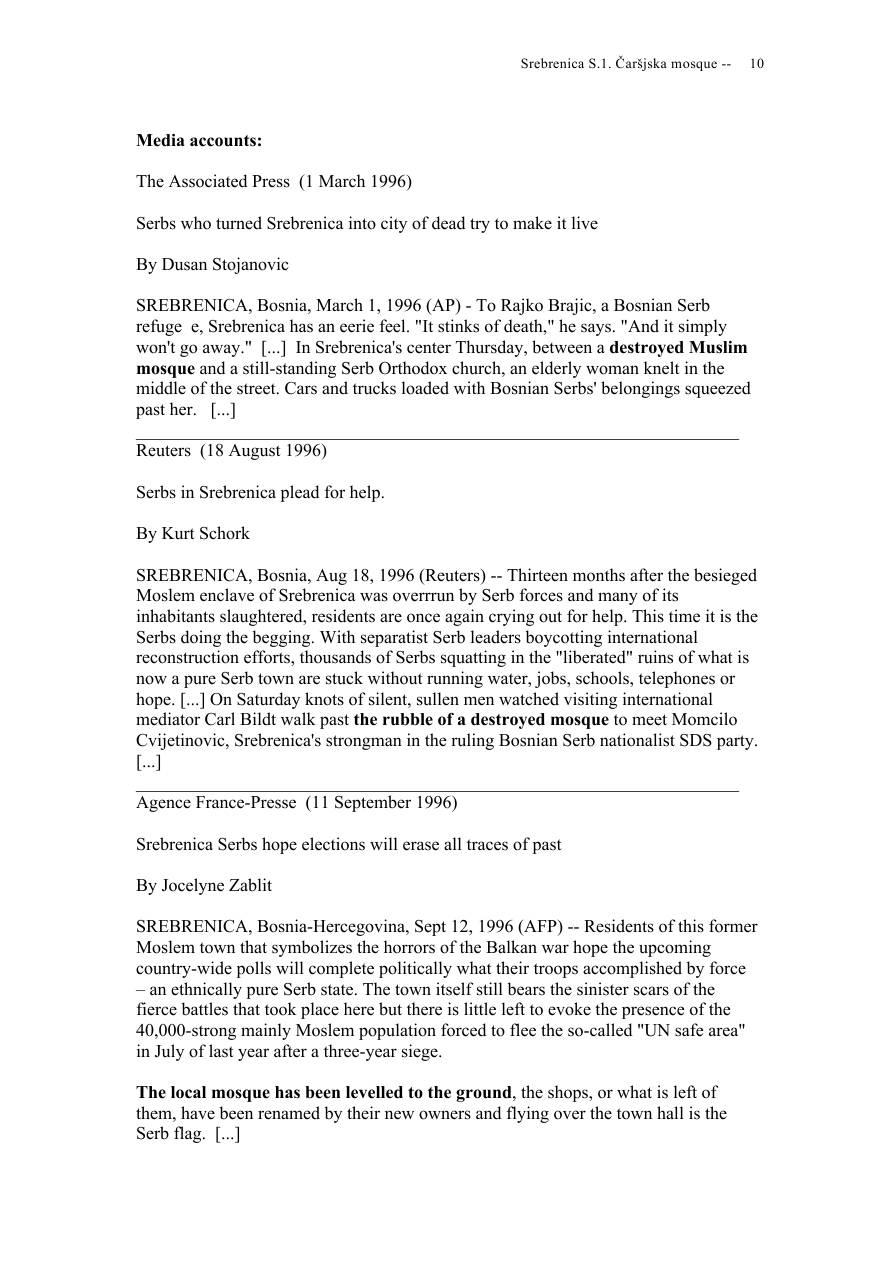 Andras Riedlmayer - Report S1 on Carsijska Mosque in Srebrenica [October 2012] - Mladic-Srebrenica-S1 Carsijska-10