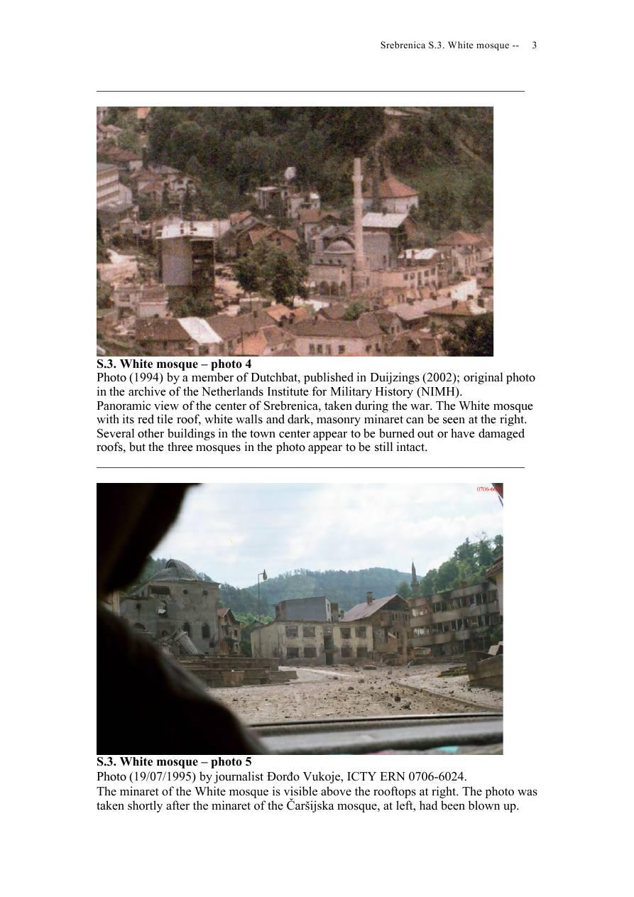 Andras Riedlmayer - Report S3 on White Mosque Bijela dzamija (Hadzi Skender-begova dzamija Mosque of Hadzi Skender Beg) in Srebrenica [October 2012] - Mladic-Srebrenica-S3 White-03