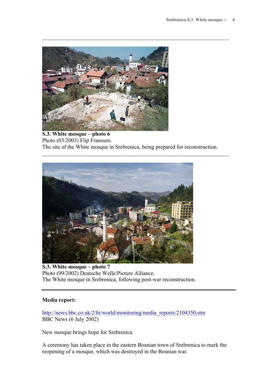Andras Riedlmayer - Report S3 on White Mosque Bijela dzamija (Hadzi Skender-begova dzamija Mosque of Hadzi Skender Beg) in Srebrenica [October 2012] - Mladic-Srebrenica-S3 White-04