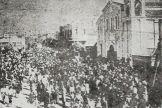 Το πρώτο μνημόσυνο για τους εκτελεσμένους στο μπλόκο της Κοκκινιάς. 24 Σεπτεμβρίου 1944.