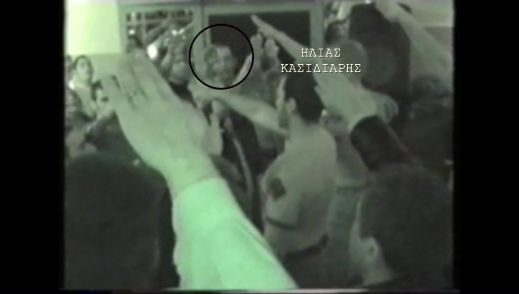 Ηλίας Κασιδιάρης σε χιτλερικό χαιρετισμό Sieg Heil την ώρα του ύμνου της ΧΑ