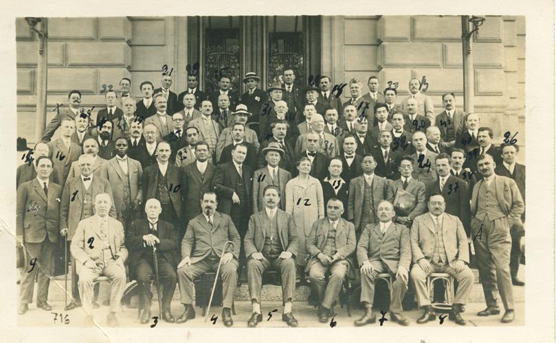 Αναμνηστική φωτό με Σοσιαλιστές Συνδικαλιστές από πολλές χώρες του κόσμου: Αρχές του αιώνα (;)