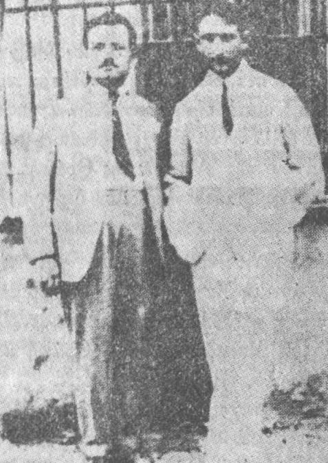 Ευάγγελος Ευαγγέλου και Γιάννης Πετσόπουλος (δεξιά)